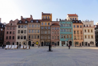 The Old Town market square of Warsaw